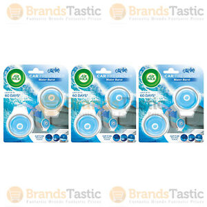 6 X AIR WICK AIRWICK WATER BURST CAR AIR FRESHENERS CLIP IT ON CABIN VEHICLE 9G
