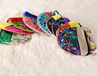Wholesale 10pcs Chinese Silk Embroider Coin Pouches Jewelry Pouch Purse