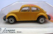 Volkswagen VW Beetle Vintage Yellow Bug, Zee DynaWheels 1:64 Scale On Cut Card