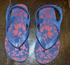 Lands End kids size 2M flip flops girls Summer beach sandals