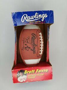 Vintage BRETT FAVRE Rawlings Junior Size Football Slightly Used in Box