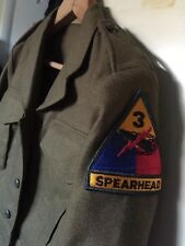Vtg. Army Trousers Wool Ike Eisenhower Spearhead Patch Officer Uniform Jacket.