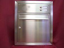 Unterputz briefkastenanlage Wandeinbau Edelstahl Postkasten 2 Klingeln UPH13