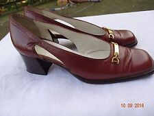 Pertti Palmroth trend line brown pumps shoes US 8.5  EUR 39 EXC Made in Italy