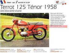 TERROT 125 Ténor 1958 Fiche Moto 000243