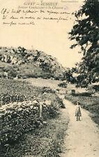 Carte GIVRY RUSSILLY Sentier conduisant à la Chaume L'enfant et ses vêtements