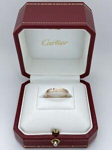 Cartier C de Cartier Ring 18K Rose Gold Diamond Size:53 Width:3mm