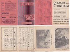MATERA: 1951 - libricino con orari ferroviari e pulman di linea con calendario..