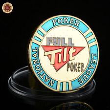 WR Guard Card Cover Chip Full Tilt Poker Casino Token Coin Poker /w Plastic Case