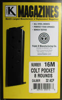 Colt Pocket M-1903-1926 .32 ACP 8 Round RD Magazine Mag Blued Steel Triple K 16M