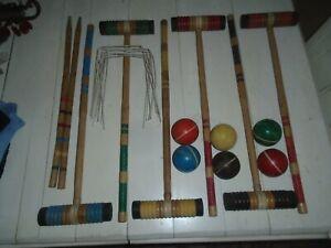 Vintage Croquet Set. 6 Player