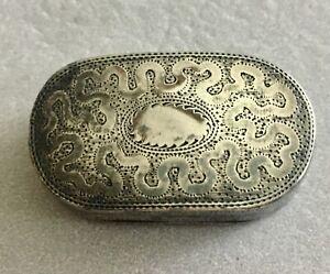 Early (1811) Sterling Silver Tiny English Snuff Box-Super Pc.-See Description