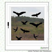 Vögel Aufkleber - Vogelschutz - 8 Stück - Wintergarten- Fenster - Warnvögel