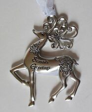 zd Season's Greetings Merry Reindeer Christmas Ornament Ganz
