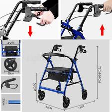 Adjustable Foldable Rollator Walking Frame Out/Indoor Shop Mobility Walker Aids