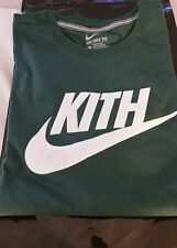 KITH / NIKE Limited Edition Swoosh T-Shirt L, white on green 1 of 100