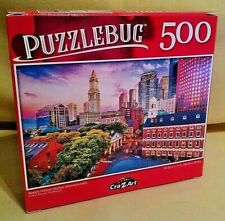 BOSTON MASSACHUSETTS PUZZLE NEW 500 PC PUZZLEBUG 2020 HISTORIC SKYLINE PAVONE.