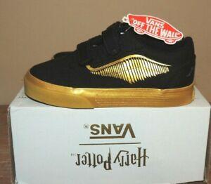 NEW! Vans Unisex Kids Old Skool X Harry Potter Sneakers Golden Snitch 8 toddler