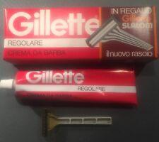 Crema da barba Vintage Gillette Regolare Con Omaggio Rasoio Slalom