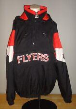 Vintage PHILADELPHIA FLYERS Black STARTER Pullover Jacket - Adult Medium
