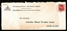 1930 KING GEORGE V 2d SURCHAGE PRE-DECIMAL STAMP AMP COMMERCIAL COVER No.209a#C1