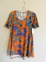Lularoe Size XXS Floral Print Perfect-T Shirt Top NWT