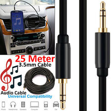 25M 3.5mm Jack to Jack Aux Cable STEREO Audio Auxiliary Lead PC Car Extra Long