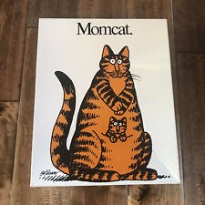 Vtg MomCat Jigsaw Puzzle By B Kliban Great American Puzzle Company PP904 18x24""