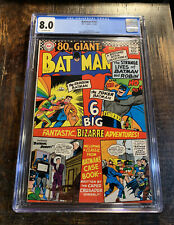 Batman Comic #182 CGC 8.0⭐️ 80 Page Giant⭐️1966 With Off-White Pages⭐️