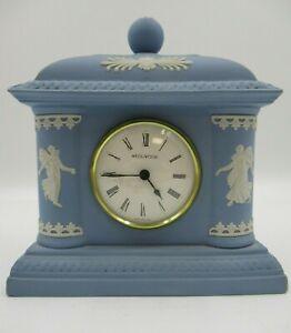 Wedgwood Blue Jasperware Dancing Hours Mantlepiece Clock [1021]