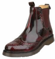 Mens New Oxblood Leather Chelsea Dealer Air Sole Boots Size 6 7 8 9 10 11 12