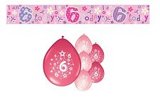 6th BIRTHDAY PARTY PACK DECORATIONS BANNER BALLOONS (SE.P.1)