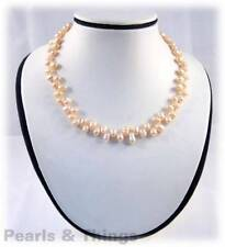 PINK FRESHWATER PEARL Chocker Necklace ZZ-5.5mm Bead