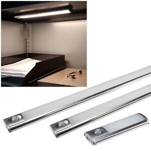 12/30/60cm Akku LED Unterbauleuchte mit Bewegungsmelder Magnet-Halter USB Ladung