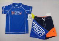Nautica Baby Set, Baby Boys 2-Piece Rash Guard & Board Shorts - 12, 18 months