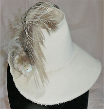 Funky handmade heavy cotton vintage ladies' hat. Handmade by Hot Hatters of CO.