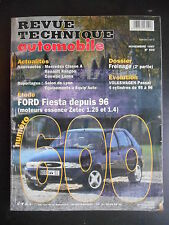 Revue technique automobile n°600 11/1997 Ford Fiesta depuis 1996