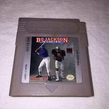 Bo Jackson: Two Games In One (Nintendo Game Boy) GB Game Cartridge Vr Nice!