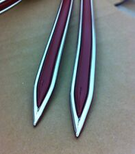 "Vintage type 5/8 "" Dark Red with Chrome body side molding formed pointed ends"