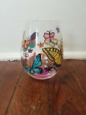 Lolita Glass Wine Tumbler Butterfly Cup