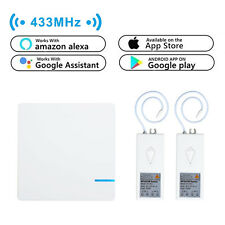 1x 1 Way Wireless Switch +2x Receiver Smart Wifi Works with Alexa Google Assist