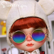 "【Tii】 12"" Blythe/pullip outfit clothe rainbow sun glasses doll glasses fashion"