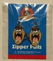 Vintage Taz Tazmanian Devil Zipper Pulls Looney Tunes 2001 Purse Charms NEW