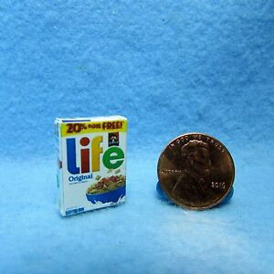 Dollhouse Miniature Detailed Replica LIFE Original Cereal Box HR54058