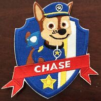 LARGER PAW PATROL   CHASE Iron On Patch Buy 2 We Send 3 Of These
