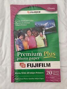 PHOTO PAPER FUJIFILM PREMIUM PLUS 4X6 20 Factory Sealed