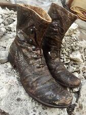 Mens GIANNI BARBATO Rare Distressed ITALIAN Leather Ankle Boots 40.5 / 7.5