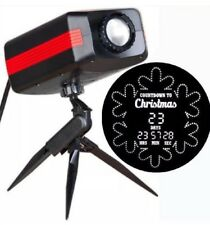 Gemmy LED LIGHTSHOW® COUNTDOWN PROJECTION™ Christmas Counts Down Up To 99 Days