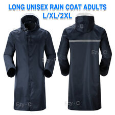 Men's Overalls Waterproof Raincoat Lightweight Work Hooded Long Coats RAIN COAT