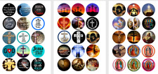 Jesus, Religious, Faith, Love Jesus, Quotes, Crosses Bottle Cap Images Set of 45